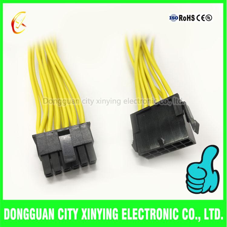 68_2 12 pin 3 0mm molex connector male to female wire harness
