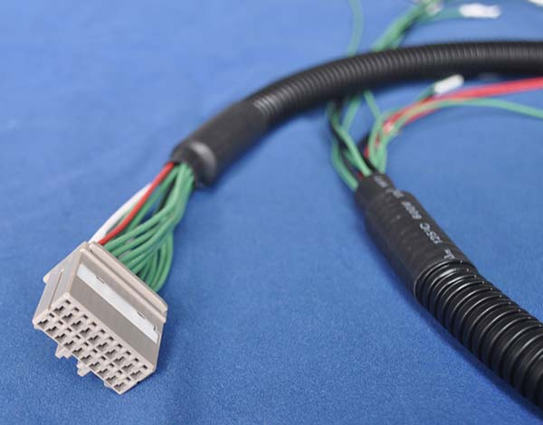 corrugated hose wiring harness