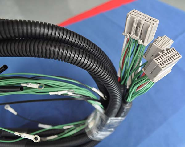 corrugated tube wiring harness