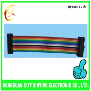 OEM custom made multiple pin rainbow flat cable harnesses