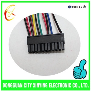 OEM custom made double row molex connector cable assembly